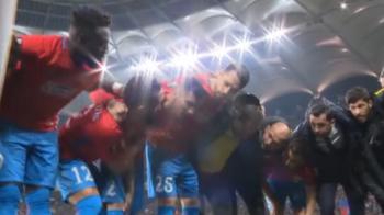Imaginile care nu s-au vazut la TV: cine a tinut discursul de motivare inainte de meciul cu Lazio! VIDEO