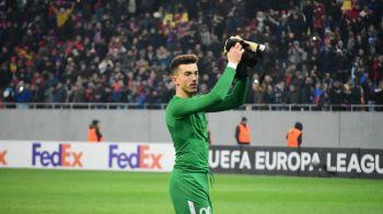 """""""BOTEZUL"""" lui Andrei Vlad! Ce s-a intamplat la finalul partidei cu Lazio! Pustiul din poarta Stelei i-a cucerit pe fani"""