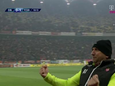 Miriuta a innebunit dupa golul marcat de Pesic! A sarbatorit ca Mourinho golul care o poate duce pe Dinamo in playoff