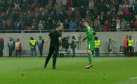 Momente de PANICA pentru tanarul Vlad: un suporter dinamovist a patruns pe teren si a vrut sa-l atace! Cum a reactionat