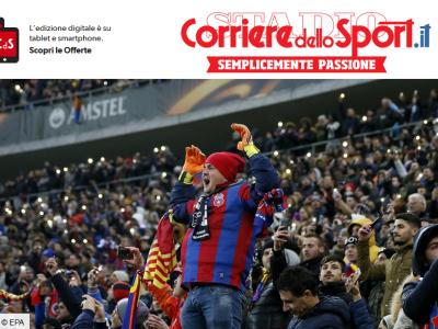 """LAZIO - STEAUA // Corriere dello Sport, in deschidere: """"12.000 de romani diseara, Lazio joaca in deplasare!"""""""