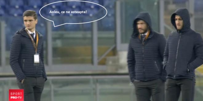 Aoleu, ce ne asteapta!  Stelistii, plouati RAU la Roma inaintea meciului cu Lazio. VIDEO de pe Olimpico