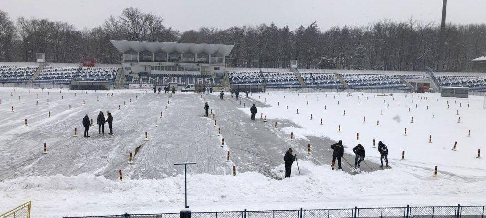Liga I(nghetata). Cum arata terenul de la Iasi inaintea meciului decisiv pentru Play Off, cu Viitorul! FOTO