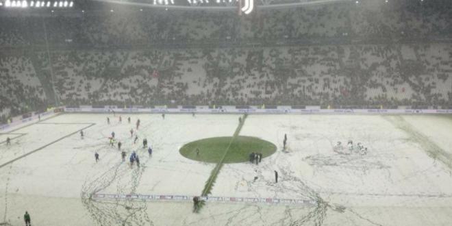 La ei nu  merge si asa : Juventus - Atalanta a fost amanat, terenul asemanator cu cel de la Giurgiu FOTO