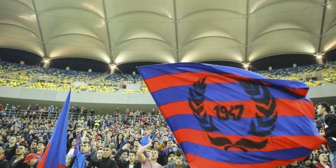 FOTO | Banner-ul afisat de stelisti la meciul cu Sepsi! Cum au  sarbatorit  ca Dinamo a ratat play-off-ul