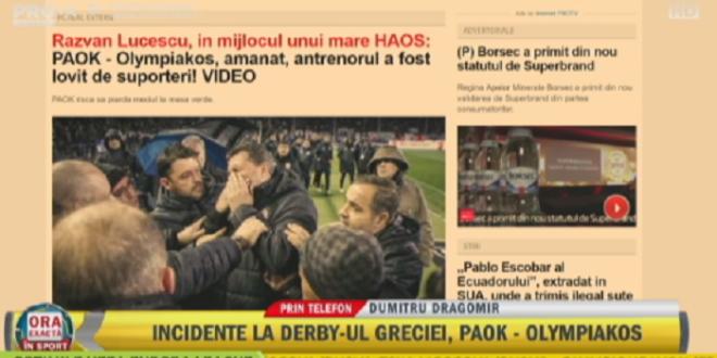 Au jucat teatru, e o mare nedreptate pentru Razvan Lucescu! Ce s-a intamplat la PAOK - Olympiakos