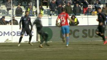 Moment HALUCINANT la Sibiu! Arbitrul a acordat penalty pentru Steaua dupa un hent al lui Filip! Ce s-a intamplat