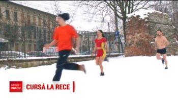 Cea mai tare provocare! Au alergat in slipi prin zapada! Ce s-a intamplat azi la Timisoara