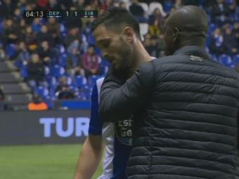 FOTO   Andone A EXPLODAT in momentul schimbarii: s-a certat cu Seedorf dupa ce a iesit de pe teren! Reactia imediata a antrenorului lui Depor