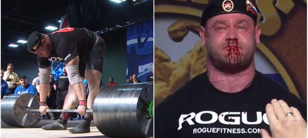"Imagini socante! Momentul in care un sportiv de la ""Strongman"" ridica 426 de kilograme de la sol! VIDEO"