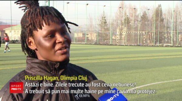 Balotelli din fotbalul feminin a venit la Cluj! Ce problema are Pricilla in Romania. VIDEO
