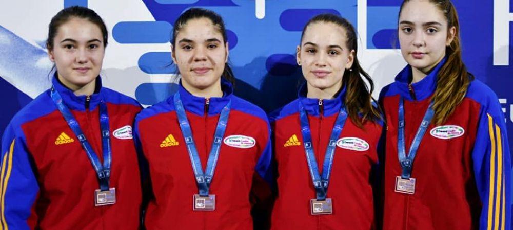 """""""Schimbul"""" pentru Branza si """"Fetele Powerpuff"""". Romania a cucerit 3 medalii de bronz la Europeanul de scrima"""