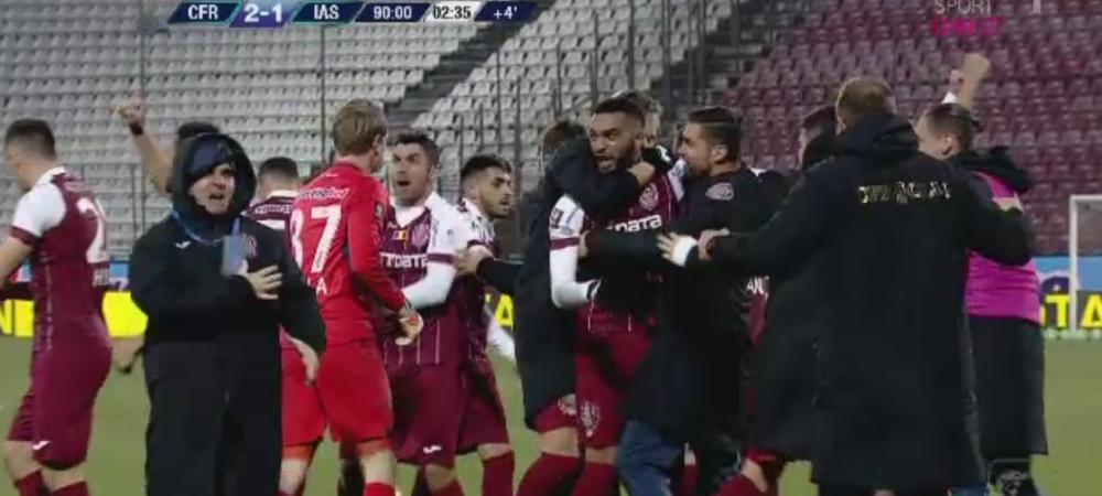 CFR Cluj 2-1 CSM Iasi   GOOOOOL SENZATIONAL OMRANI, in minutul 90+3. Petrescu a explodat in tribuna