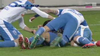 Craiova 1-0 Astra   Oltenii trec provizoriu peste Steaua in clasament, dupa o lupta crancena pe un teren jalnic! Mitrita a marcat