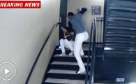 Imagini socante: un jucator isi bate in ultimul hal iubita pe scarile stadionului! VIDEO