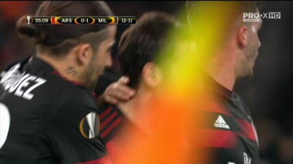GOL Calhanoglu, in Arsenal - AC Milan | VIDEO