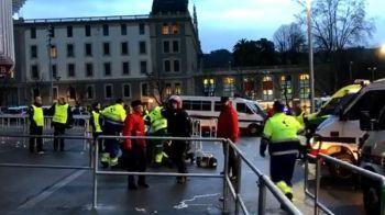 Ciocniri violente intre fani si fortele de ordine inainte de Bilbao - Marseille! Un steward, injunghiat in gat de suporterii lui O.M