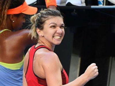 """Simona Halep si """"Batalia sexelor""""! Cu cine s-a pozat romanca inainte de semifinala de la Indian Wells FOTO"""
