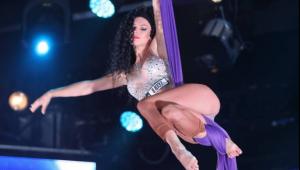 Loredana Cristea, moment acrobatic plin de senzualitate pe scena Romanii au talent