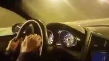 Soferul care a SPART recordul de viteza al tarii! S-a filmat in timpul unei curse ilegale cu 300 KM/H! VIDEO