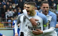 One man show! Icardi a dat 4 goluri in 21 de minute, Inter revine pe loc de Champions League: VIDEO