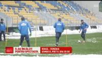 Israel - Romania, sambata, PROTV | Nationala s-a antrenat la Ploiesti din cauza ninsorii! Meciul se joaca la 30 de grade!