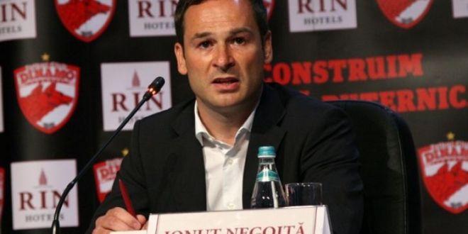 Conditia de care depinde vanzarea lui Dinamo si nu il implica pe Negoita:  Daca nu se rezolva asta, lucrurile se complica