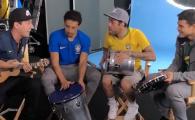Super VIDEO: Brazilienii lui PSG si-au facut formatie si au cantat la prezentarea echipamentului pentru Mondial