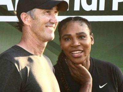 """FOTO Serena Williams i-a dat """"tarcoale"""" lui Darren Cahill. Ce i-a spus antrenorului Simonei"""