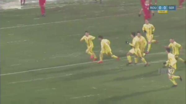 Romania U19 - Serbia U19 - Matan deschide scorul