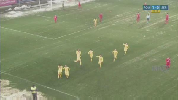 Romania U19 - Serbia U19 - Morutan inscrie pentru 2-0