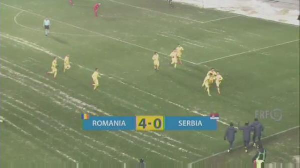 Romania U19 - Serbia U19 - Matan inscrie un gol FENOMENAL dupa ce a driblat TOT