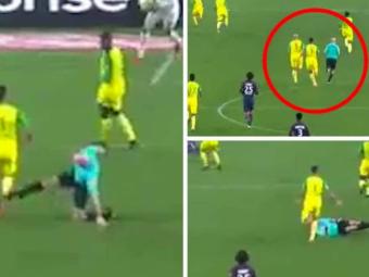 ULTIMA ORA   Suspendare cat pentru retragere! Ce pedeapsa a primit arbitrul care i-a pus piedica unui fotbalist la Nantes - PSG, in Ligue 1