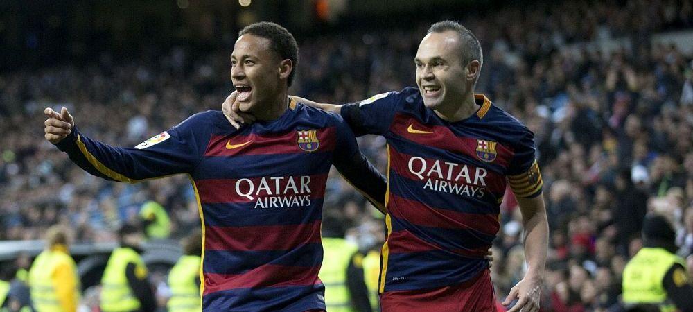 """""""Ii batem si cu Neymar!"""" Aroganta catalanilor la zvonul ca Real Madrid l-ar putea lua pe Neymar la vara. Iniesta: """"Totusi, e intre cei mai buni"""""""
