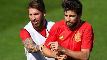 """Pique v-a zis ca rade de noi pe WhatsApp?"". Ramos a reactionat dupa meciul Spaniei cu Germania, de aseara :)"