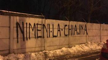 Revolta si impotriva Armatei! Peluza Sud nu mai vrea sa mearga nici la meciurile CSA-ului, ultrasii au mazgalit azi-noapte zidurile din Ghencea