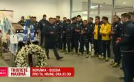 "VIDEO Jucatorii nationalei au depus flori la capataiul lui Nicolae Tilihoi. Tatarusanu: ""Sper sa-i dedicam victoria"""