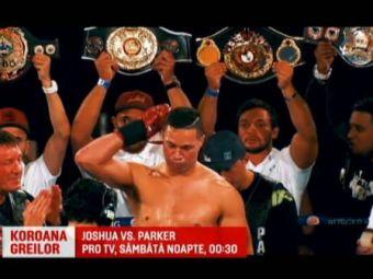Will Smith ii face galerie lui Joshua! Batalia secolului dintre Joshua si Parker e sambata noapte, in direct la PRO TV