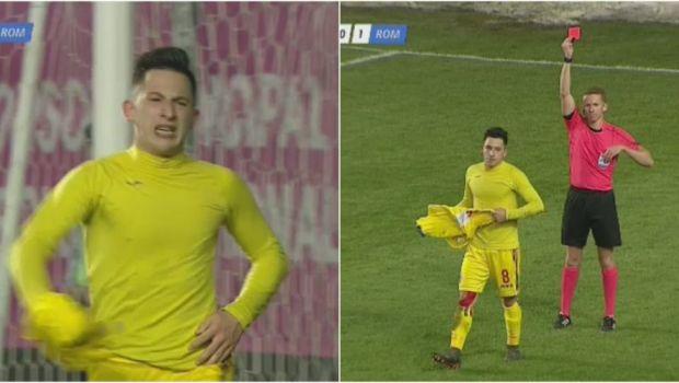 Faza incredibila! Momentul in care Morutan realizeaza ca va fi eliminat, dupa ce a inscris golul cu care Romania putea merge la EURO: VIDEO