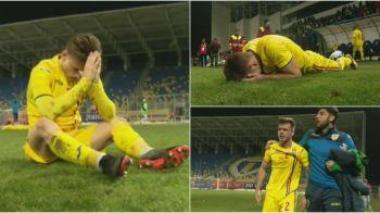 FOTO | Lacrimile unei generatii! Fotbalistii nationalei U19, daramati de durere, dupa infrangerea din minutul 90+2