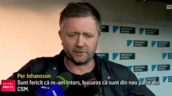 Pregatit pentru trofeul Ligii! Suedezul Per Johansson, antrenor universal: pregateste TREI echipe si vrea Liga cu CSM
