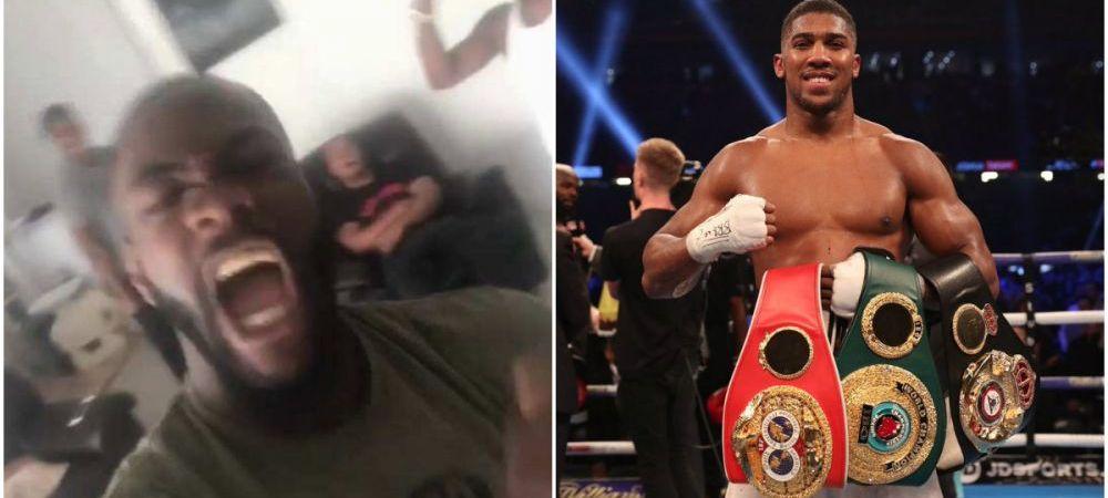 """Wilder a explodat dupa provocarea lansata de Joshua si i-a raspuns englezului: """"HOTIE! Parker e adevaratul campion! Dar ma bat si cu tine"""""""