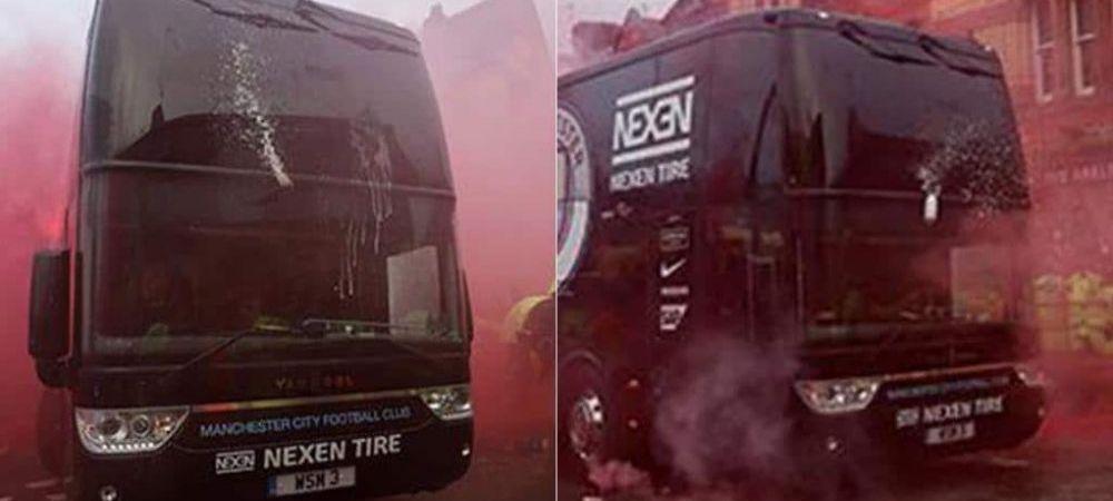UEFA a deschis o ancheta dupa Liverpool-City! Politia ii cauta pe huliganii care au atacat autocarul echipei lui Guardiola