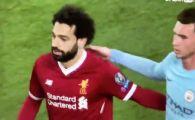 GEST INCREDIBIL | Salah s-a apropiat de Laporte dupa finalul primei reprize si si-a cerut scuze: motivul pentru care a facut asta la 3-0 pentru Liverpool