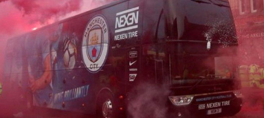 VIDEO | Imaginile HAOSULUI! Cum s-au vazut incidentele dinaintea meciului, din autocarul lui City