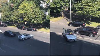 Scene incredibile pe un bulevard din Bucuresti! Un sofer haotic putea provoca cel putin un accident grav. VIDEO