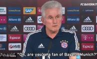 "Uriasul Heynckes, moment amuzant la conferinta: ""M-am intalnit cu o batranica in lift, m-a intrebat daca tin cu Bayern!"" :)"