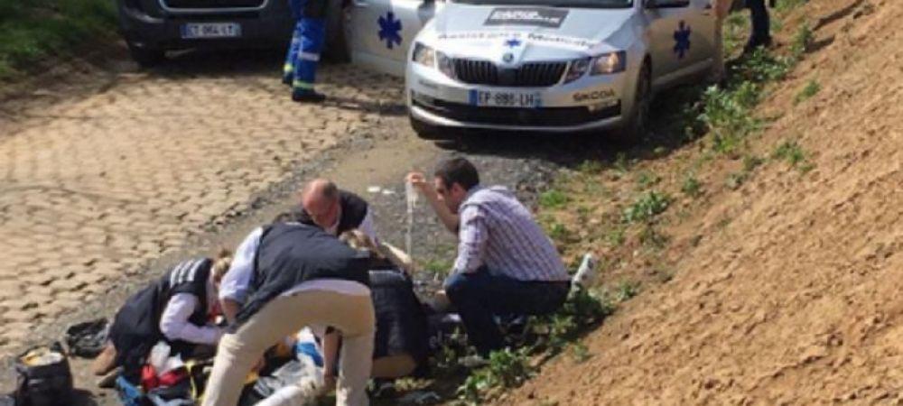 Imagini socante in cea mai grea cursa din ciclism: Un rutier belgian a suferit un stop cardiac dupa o cazatura