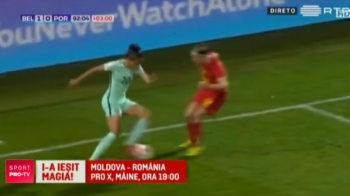 "Moldova - Romania, marti, 19:00, PRO X | Driblingul anului vine de la fotbal feminin! FABULOS: ""Ronalda"" din nationala Portugaliei a reusit un moment magic. VIDEO"