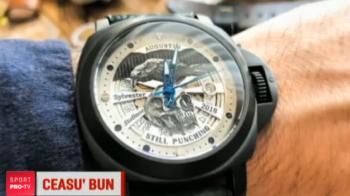 Silvester Stallone a primit cadou un ceas din Romania! Florian Munteanu filmeaza cu el in Philadelphia pentru Creed 2